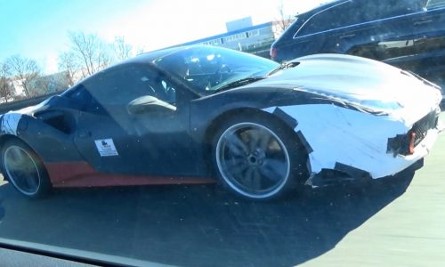 Ferrari V8 hybrid supercar to debut this year, prototype spotted (video)