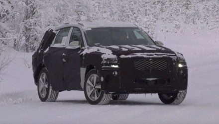 Genesis GV80 spotted, company's first SUV (video)