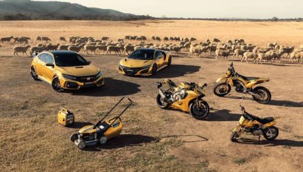 Honda Australia celebrates 50th anniversary with gold products