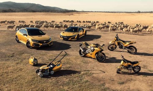 Honda Australia celebrates 50th anniversary with gold products