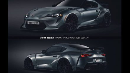 Prior Design already enhancing new A90 Toyota Supra