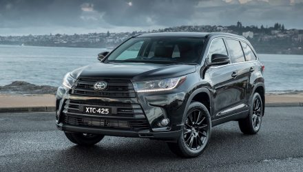 Toyota Kluger Black Edition now on sale in Australia