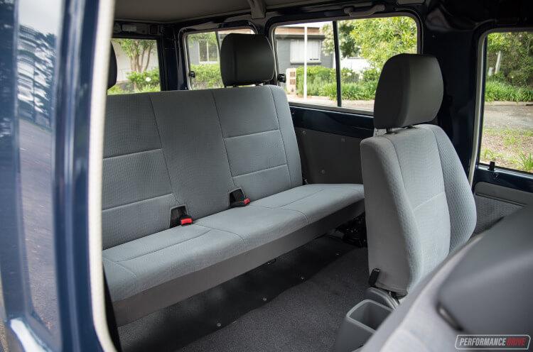 2019 Toyota LandCruiser 78 Series Troop Carrier rear seats
