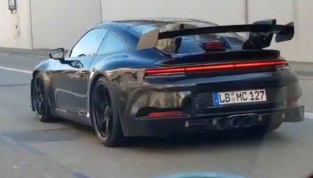 2020 Porsche 911 GT3 prototype spotted on autobahn (video)