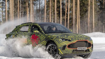 Aston Martin DBX SUV testing moves to freezing conditions (video)