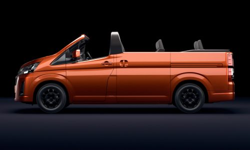 Toyota HiAce Convertible is a joke, but very cool