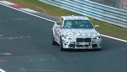 2020 BMW M3 G80 prototype spotted at Nurburgring (video)