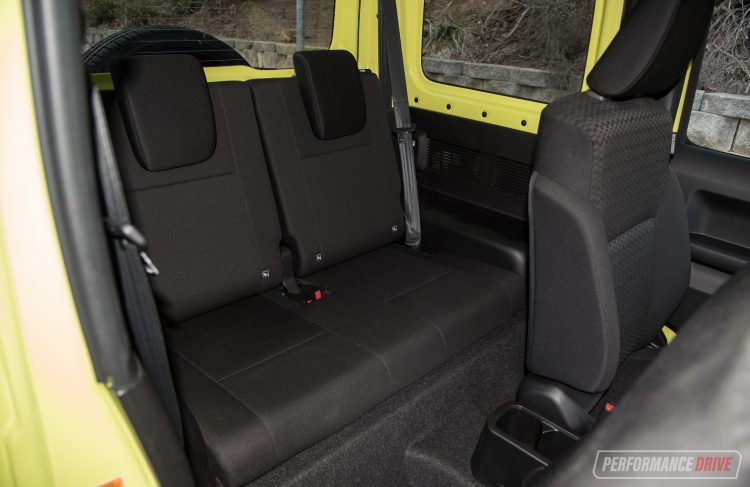 Suzuki Jimny rear seats