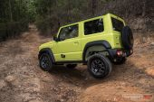 Suzuki Jimny wheel travel