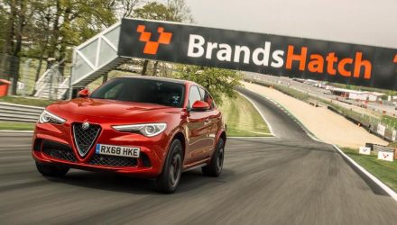 Alfa Romeo Stelvio QV sets record laps at 3 UK circuits (video)