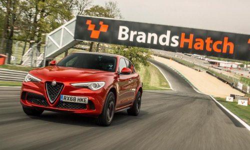 Alfa Romeo Stelvio QV sets record laps at 3 UK circuits (video)