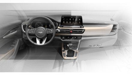 Kia small SUV previews future interior design direction