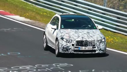 2020 Mercedes-AMG A 45 spotted, looks very fast (video)