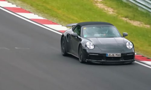 2020 Porsche 911 Turbo '992' convertible spied at Nurburgring (video)