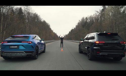Video: Lamborghini Urus vs Jeep Grand Cherokee Trackhawk