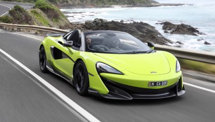 McLaren 600LT Spider makes Australian debut on Great Ocean Road
