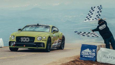 2019 Bentley Continental GT sets production car record at Pikes Peak