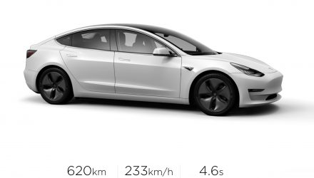 Tesla Model 3 Long Range variant announced for Australia