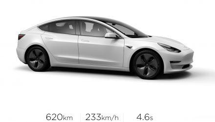 Tesla Model 3 Long Range variant announced for Australia