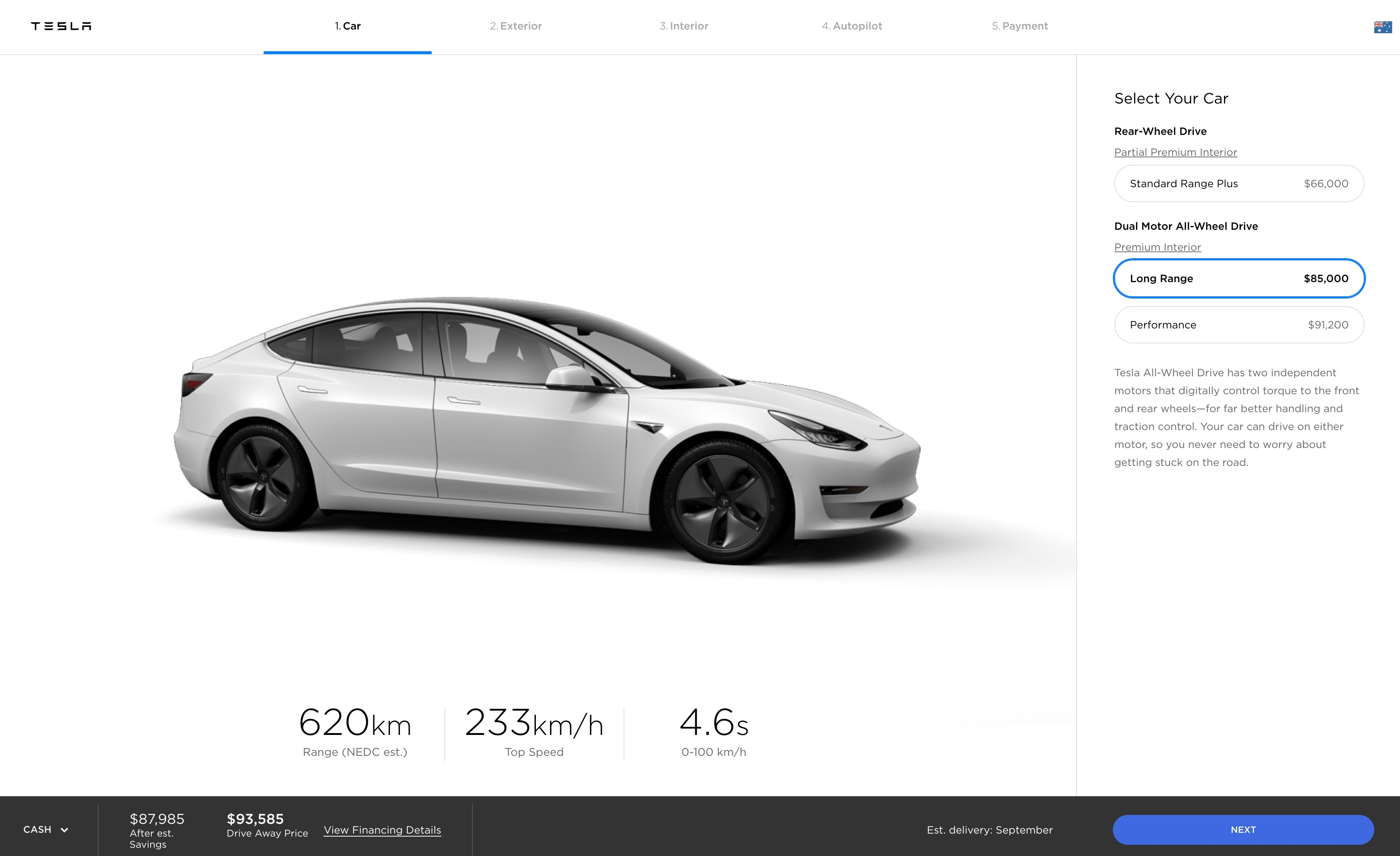 Tesla Model 3 Long Range Variant Announced For Australia Performancedrive