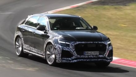 Audi RS Q8 spotted; 500kW monster hybrid SUV (video)