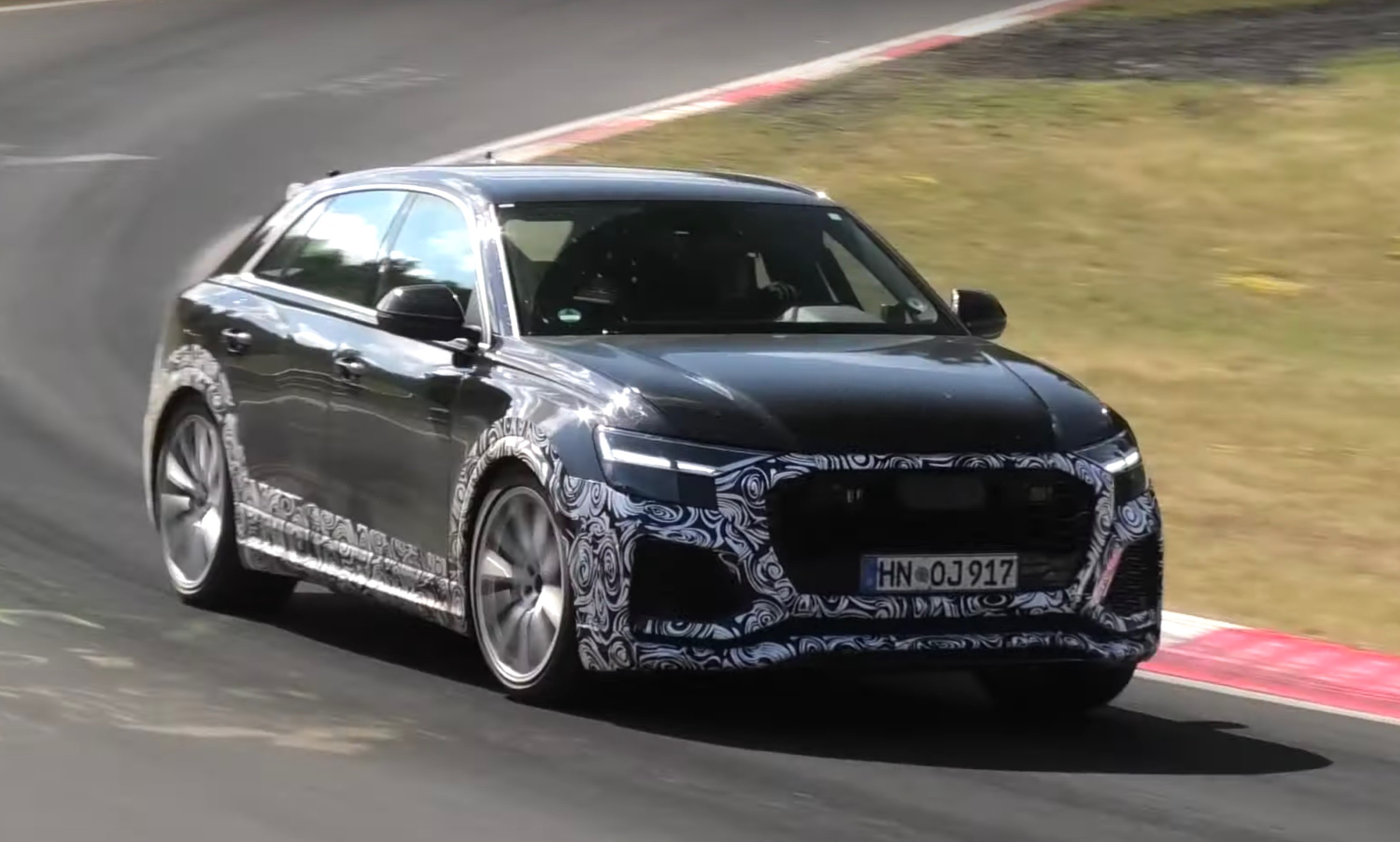 Audi Rs Q8 Spotted 500kw Monster Hybrid Suv Video Performancedrive