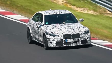 2021 BMW M3 'G80' spied at Nurburgring, AWD grip? (video)
