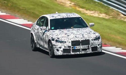 2021 BMW M3 'G80' spied at Nurburgring, AWD grip? (video)