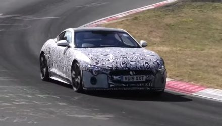 2020 Jaguar F-Type spotted, using BMW 4.4TT V8? (video)