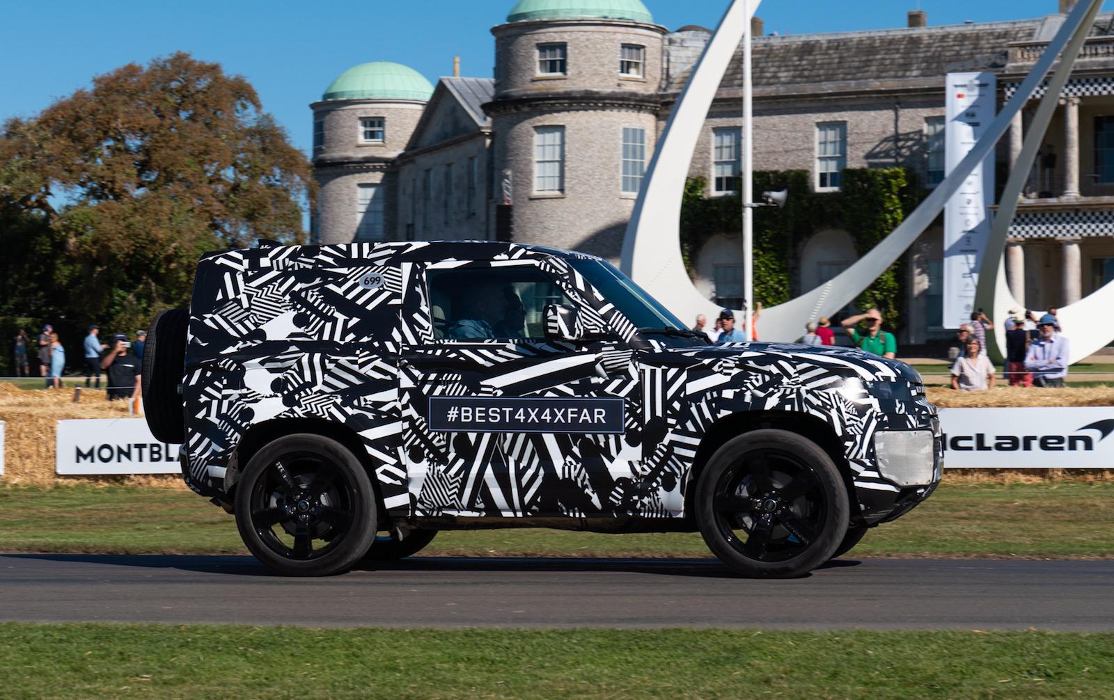 2020 Land Rover Defender '90' opens Goodwood Festival