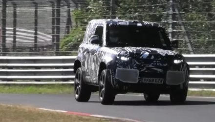 2020 Land Rover Defender spied, pushing hard at Nurburgring (video)