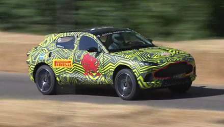 Aston Martin DBX takes on Goodwood, V8 confirmed (video)