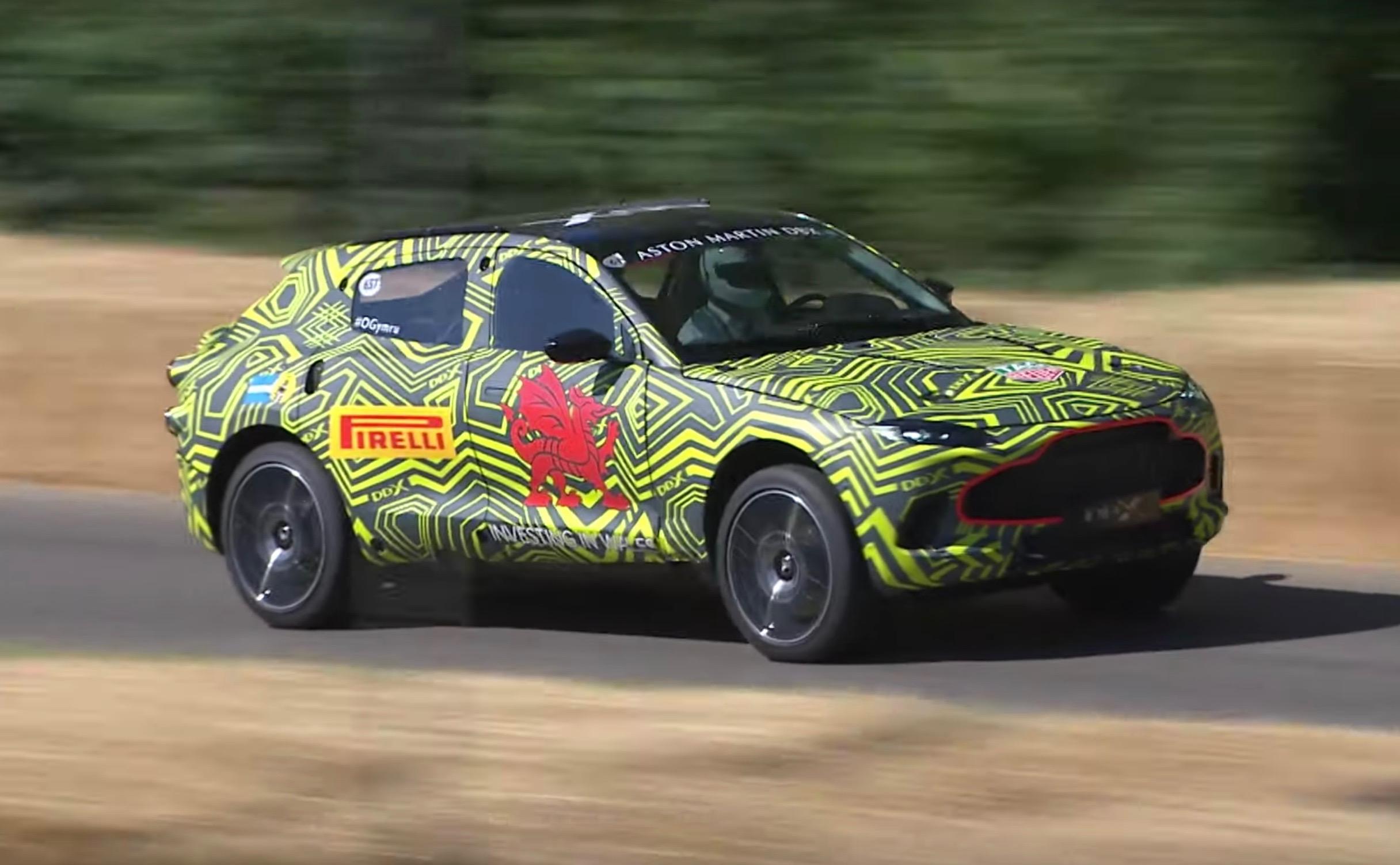 Aston Martin Dbx Takes On Goodwood V8 Confirmed Video Performancedrive