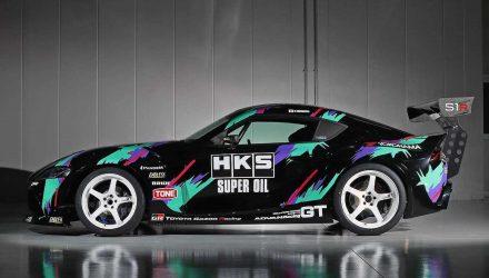 HKS Toyota GR Supra drift car revealed, gets 2JZ conversion (video)