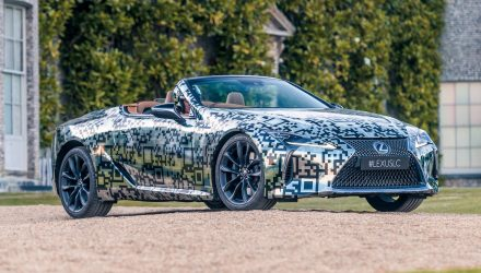 Lexus LC convertible confirmed, prototype debuts at Goodwood