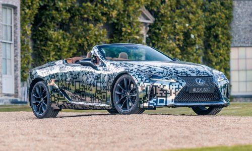 Lexus LC convertible confirmed, prototype debuts at Goodwood