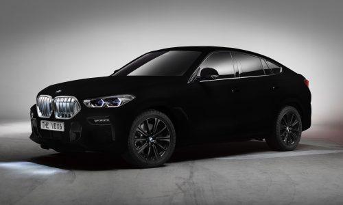 2020 BMW X6 gets Vantablack nanostructure paint; blackest of black