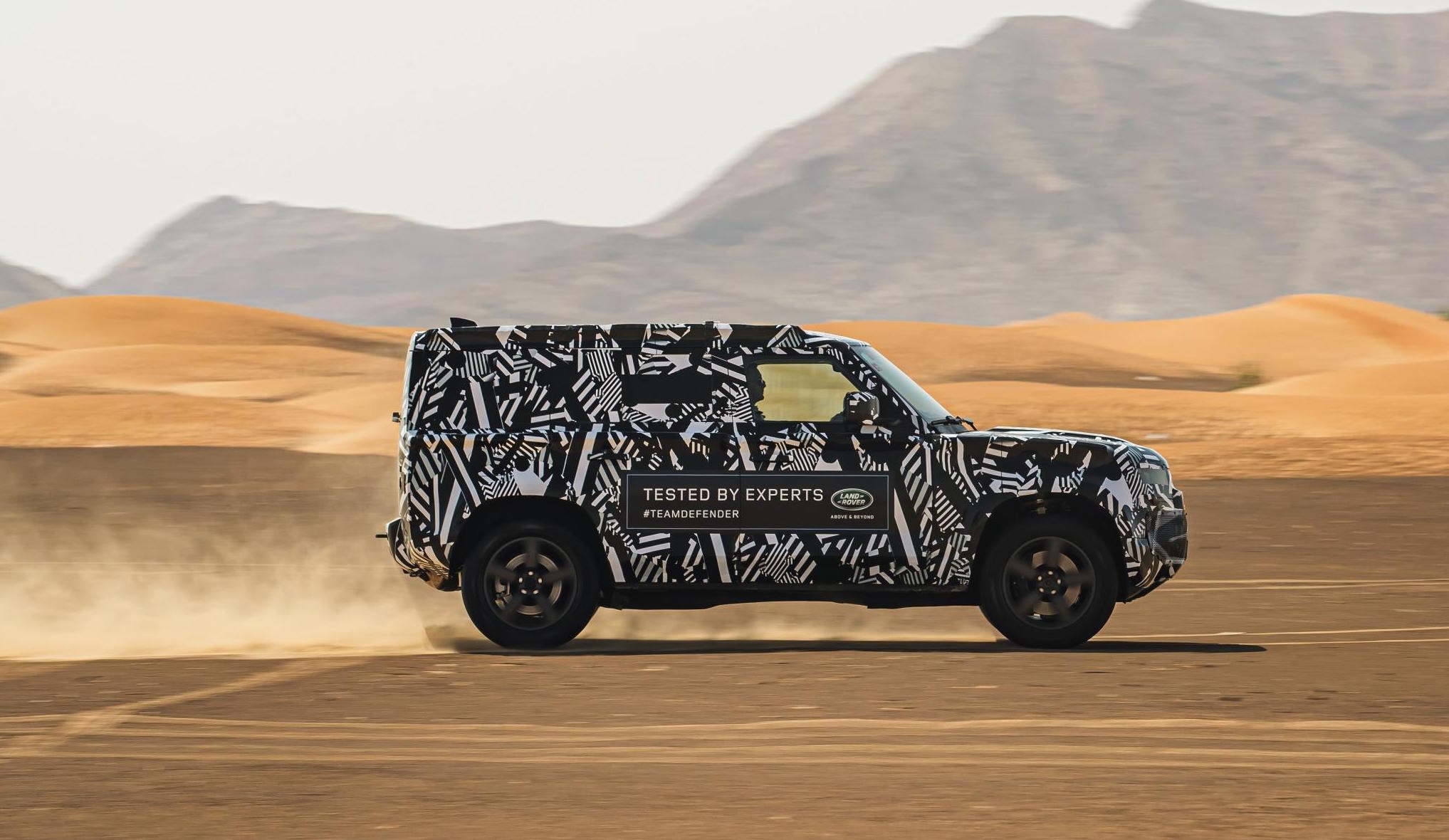 New Land Rover Defender Retains 32 Inch Tyres Testing