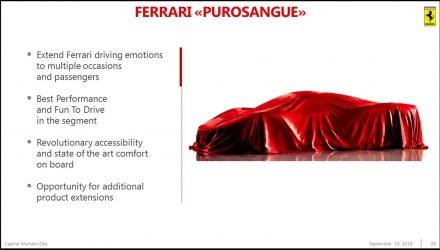 Ferrari Purosangue SUV to debut in September?