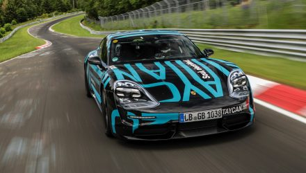 Porsche Taycan sets Nurburgring lap record (video)