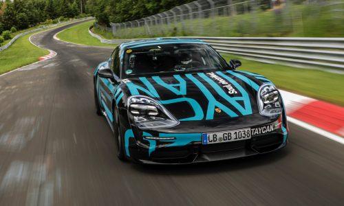 Porsche Taycan sets Nurburgring lap record (video)