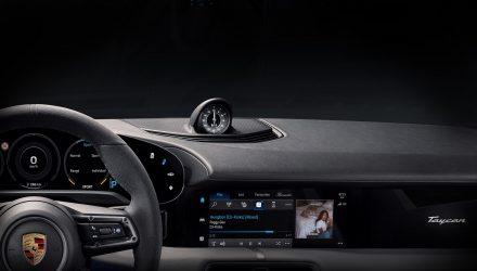 Porsche Taycan dash and touchscreen