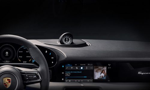 Porsche Taycan dash revealed ahead September 4 debut