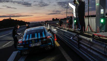 Porsche Taycan prototype test at Nardo - 3