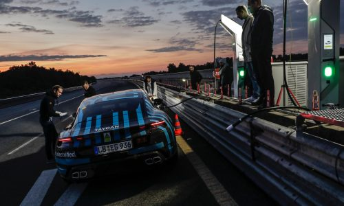 Porsche Taycan completes 24hr endurance test at Nardo