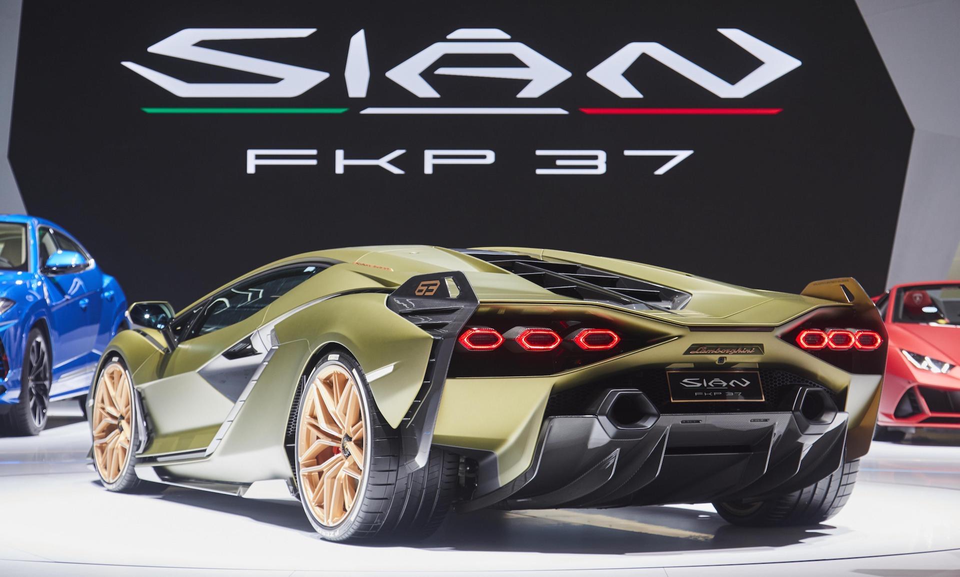 Lamborghini Sian debuts at Frankfurt, adopts FKP 37 name