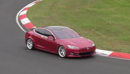 Tesla Model S timed at Nurburgring in 7:23, record pending (video)