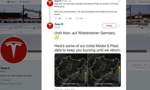 Tesla confirms Model S Plaid laps Nurburgring in 7:20