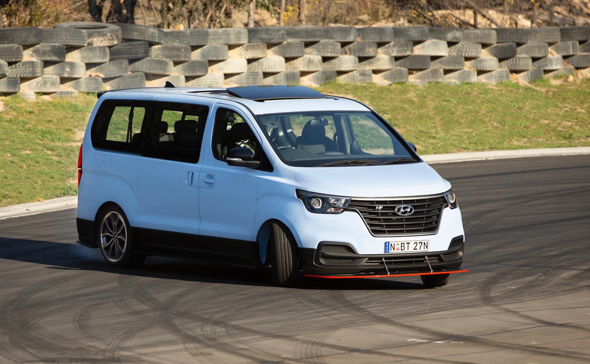 Hyundai iMax N 'Drift Bus' created in Australia, twin-turbo V6 conversion