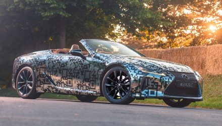 Lexus LC convertible making Australian debut at Melbourne Cup